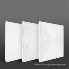 building material decorative aluminum clip-in square ceiling tile design