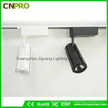 Lumière de voie de 15W LED de COB blanche / noire de vente chaude