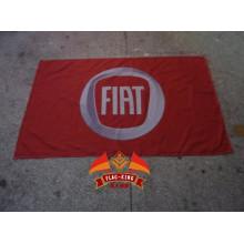 Bandeira do carro Fiat 100% poliéster 90 * 150 CM bandeira Bandeira da Fiat