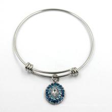 Стерлинговый серебр регулируемый браслет ювелирных изделий очаровывает браслет
