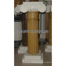 Greek Column with Stone Marble Granite Sandstone (QCM131)