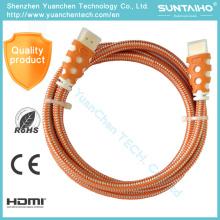 Cable de alta velocidad 1080P HDMI para DVD HDTV de computadora