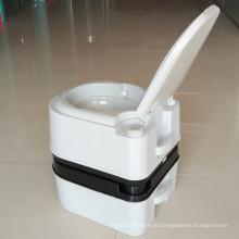 24L портативный туалет Открытый мобильный туалет HDPE туалет