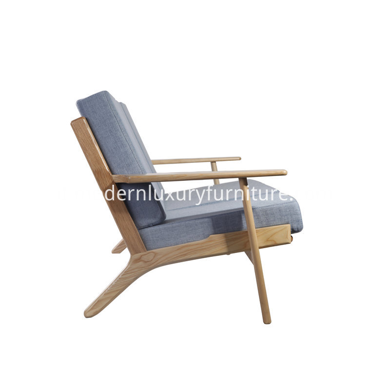 Hans Wegner Fabric Plank Chair 3