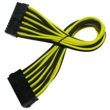 Câble tressé à extension de puissance 24pin ATX