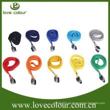 Venta al por mayor de fábrica de alta calidad de poliéster de color sólido de tela tubular cordón