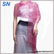 Bufanda de las mujeres Shimmer, Evening Wrap, bufanda de lentejuelas