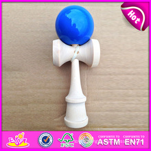 Wooden Toy Colored Kendama Toy for Kids, Colorful Kendama for Wholesale Wooden Game, Wooden Kendama Toy with 30*11*9.7 Cm W01A034