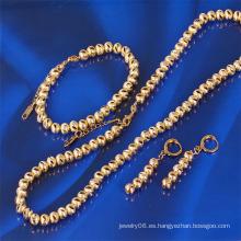 Xuping oro plateado cadenas de bola de joyería de moda conjunto (61165)