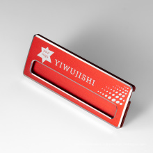 Wholesale Anodized Aluminum Stainless Steel Magnetic Name Tag Badge Name Plate Pins