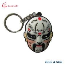 Personalizada llavero de PVC suave máscara por mayor