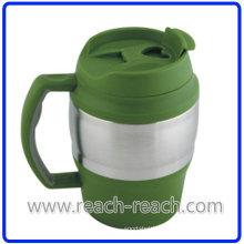 650ml Double Wall Plastic Beer Travel Mug (R-BK006)