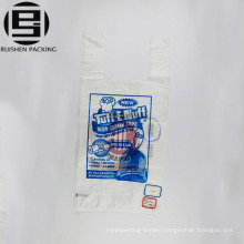 Printed t-shirt plastic collection shopping bags