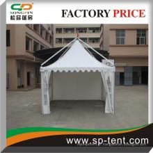 Tente de gazeboir en aluminium avec revêtement étanche et paroi latérale