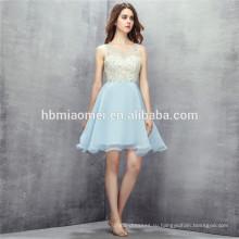 2017 горячие продажи светло-голубой цвет платья невесты короткие дизайн sequies спинки свадебные платья платья для девочек