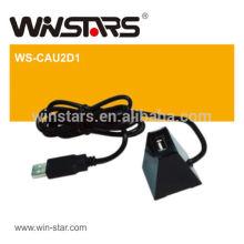 USB 2.0 1 port Hub for extending computer hub port maxmium to 1m,usb 2.0 mini dock with cable, plug and play