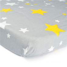 Fitted Woven Cotton Crib Sheet Printed Colorful,Baby Bed Sheet