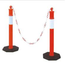 Signe de circulation 1100mm PE Poste d'avertissement réfléchissant flexible