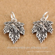 SEF101 925 ювелирных изделий стерлингового серебра Тайский серебро малых листьев листьев подвеска браслет DIY материалы accessori
