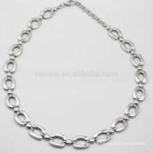 2015 New Artificial Jewellery Simple Silver Necklace Chains Bulk China
