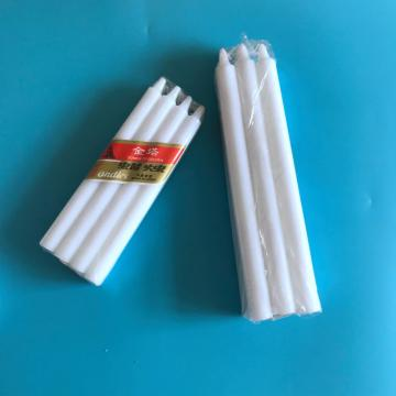 Goedkope Dripless Paraffine Wax Taper White Candles