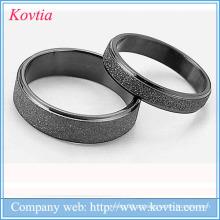Anel de casal anel preto 316L aço inoxidável ouro preto chapeamento casal anel