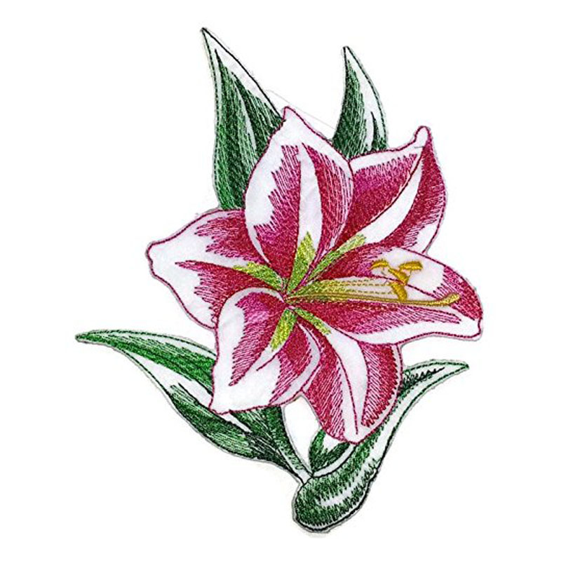 Sketched Amaryllis Single Patch