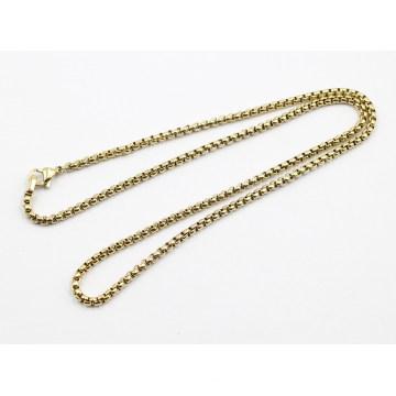 Chaîne de perles de mode en acier inoxydable plaqué or Fashion