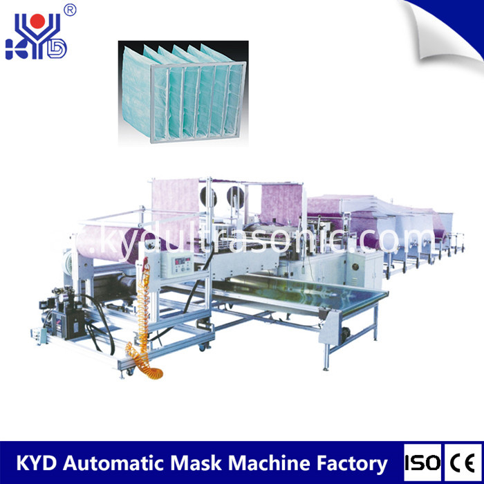 pocket air filter making machine