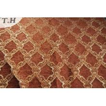 Tissu de couverture de canapé de style gemotric chenille pour l'Amérique du sud
