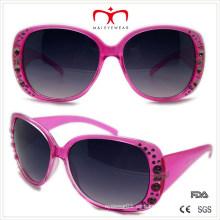 Gafas de sol de plástico de diamantes de las señoras (wsp508365)