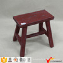 Distressed Antique Wooden Small Rectangle Stool