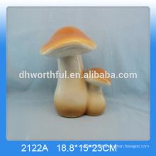 Wholesale decorative ceramic mushroom craft,ceramic mushrooms garden ornaments