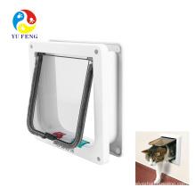 Waterproof Cat Flap Door, White Pet Door Kit for Kitten & Small Dog Waterproof Cat Flap Door, White Pet Door Kit for Kitten & Small Dog