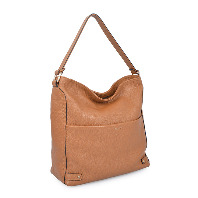 fashion simple design solid color ladies handbags women leather hobo bag