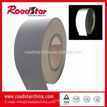 Silber grau reflektierende PVC Schaum Lederhersteller