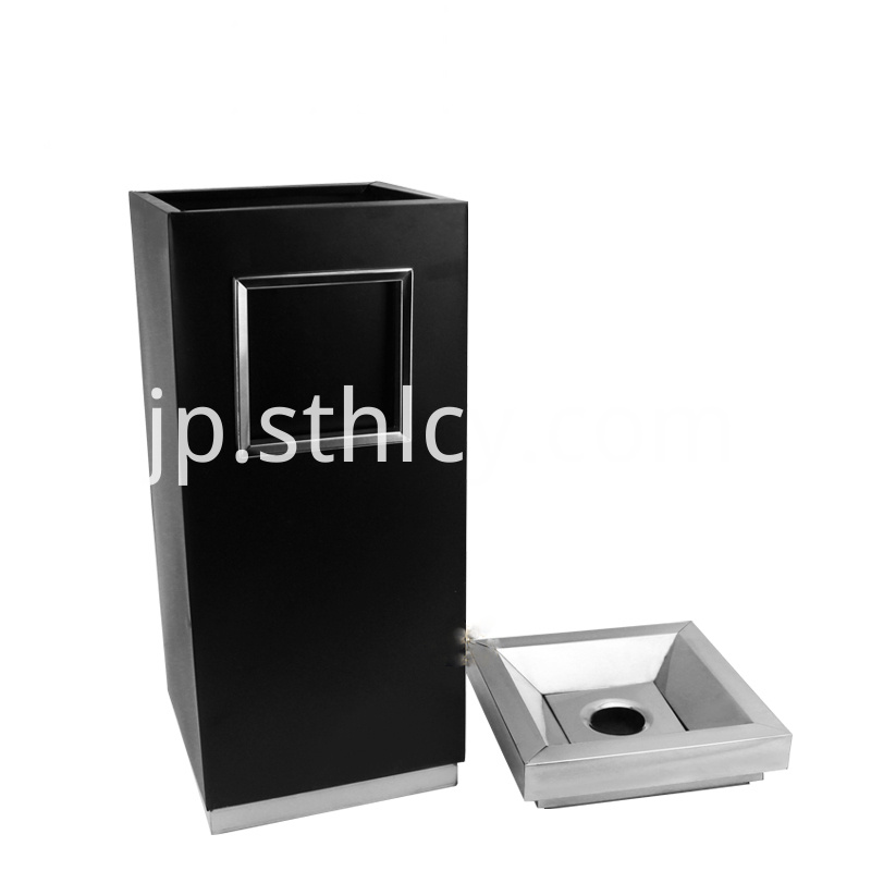 Cuboid Stainless Steel Garbage Container