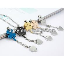 gold plated four leaf clover dangle charm pendants