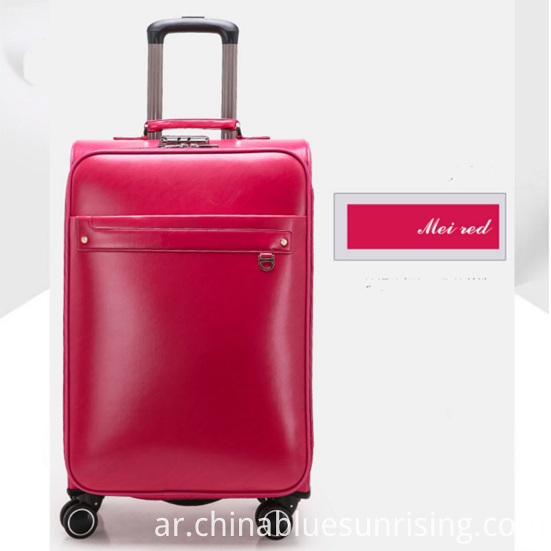 Mei red pu luggage