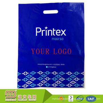 China Guangzhou Biodegradable Own Logo Design Die Cut Handle Full Color Printing Custom Shape Plastic Bag Wholesale