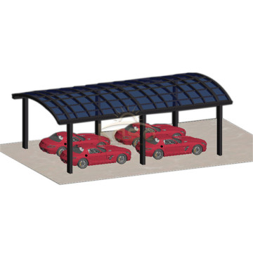 Bærbar Aluminium Car Garage Slope Single Canopy Carport