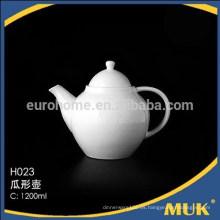 2016 restaurante moderno cheao real buena calidad pote de té de cerámica blanca