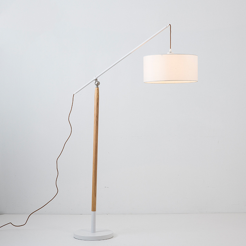 Standard Wooden Floor Lamp