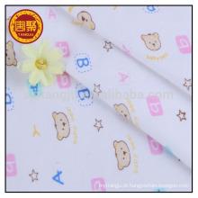 O algodão de 95% 5% spandex bloqueia a tela feita malha para vestuários do bebê
