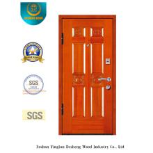 Puerta blindada de seguridad Simplestyle con talla (E-1006)