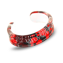 Wholesale Factory Directly Clear Custom Bangle Plastic Acrylic Bracelet with silk printing