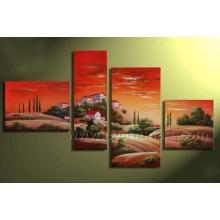 Handgemachtes afrikanisches Kunst-LandschaftsÖlgemälde