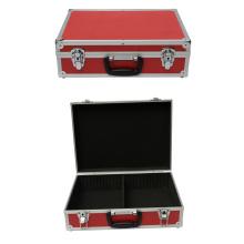 Caja de herramientas de aluminio rojo caja de herramientas de aluminio