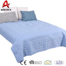 Ensemble de couette de couleur unie de couture d'usine, ensemble de douillette de lit de maison de 3pcs