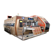Best price Vacuum Transfer 5 color print slotter die cutting machine with stacker for corrugated carton